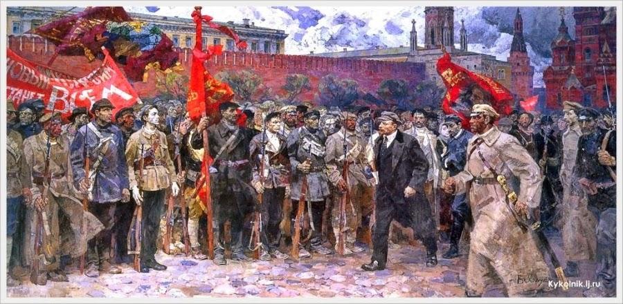 Холуев Владимир Федорович (Россия, 1932-2002) «Солдаты революции» 1964