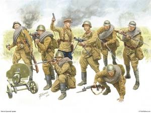 Пехота Красной армии.(Рис. Андрей Каращук)