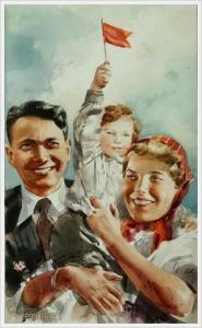 Климашин Виктор Семенович (Россия, 1912-1960) Эскиз обложки к журналу «Огонек»