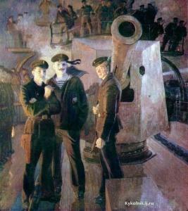 Левитин Анатолий Павлович (Россия, 1922) «Аврора». …Великая Октябрьская социалистическая революция