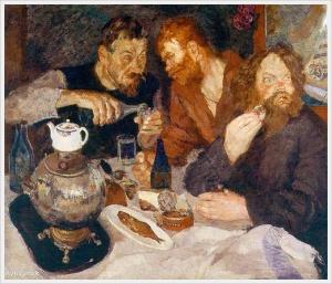 Иогансон Борис Владимирович (1893-1973) «Сговор у кулака» 1933-1934