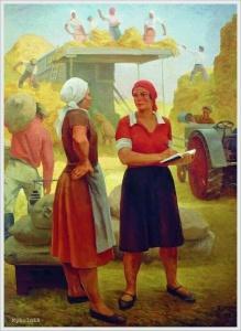 Ряжский Георгий Георгиевич (Россия, 1895-1952) «Колхозница-бригадир» 1932