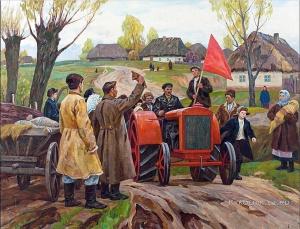 Широков Алексей Александрович (Россия, 1923) «Трактор пришел» 1972