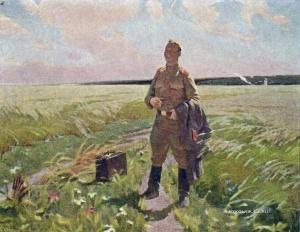 Симонов Игорь Иванович (Россия, 1927) «Снова на Родине» 1958