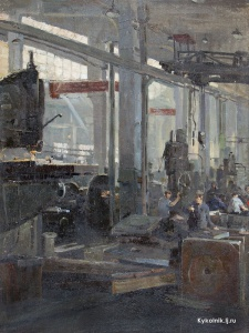 Тартаковский Исаак Иосифович (Россия, 1912-2002) «В цехе» 1956