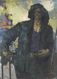 Широков Евгений Николаевич (1931) «Рабочий на перекуре» 1961