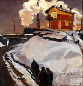 Оссовский Пётр Павлович (1925-2015) «Зимний вечер» 1957