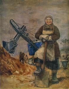 С.Я.Адливанкин. Строительница Уралмаша, 1932