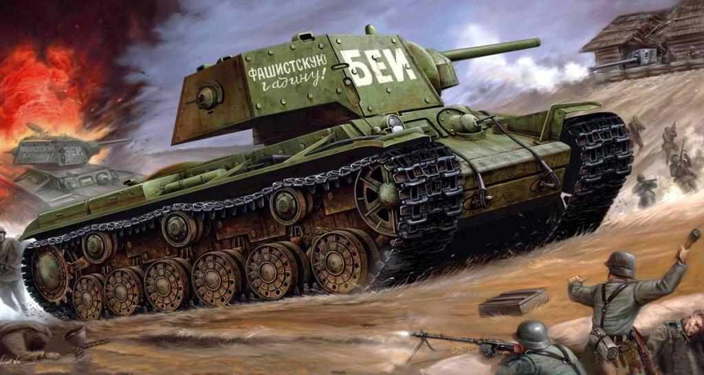 Бей фашистскую гадину! Советский тяжелый танк КВ-1 (Vincent Wai)