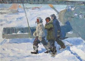 Манаков Борис Николаевич (1931-1993) «Воркута. Летчики полярной авиации» 1963-1967