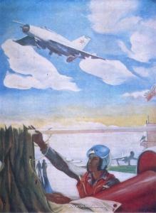Нариманбеков Видади Ягуб оглы (1926-2001) «Перед взлётом» 1975