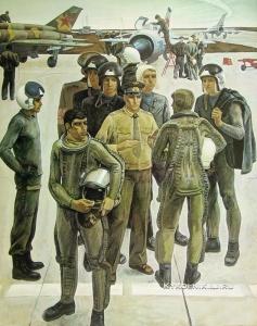 Псарев Виктор Пантелеевич (Россия, 1949) «Крылатые сыны Отчизны» 1981