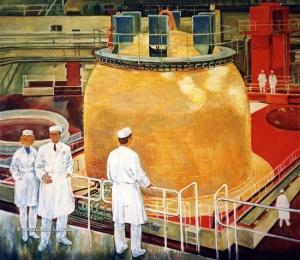 Крыжевская (Крижевская) Светлана Григорьевна (1946) «На атомной станции» 1982