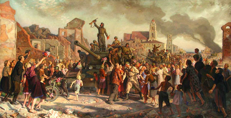«Минск. 3-го июля 1944 г.» В.В. Волков