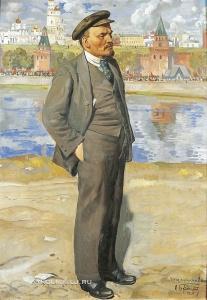 Бродский Исаак Израилевич (1884–1939) «В. И. Ленин на фоне Кремля» 1924