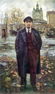 Бродский Исаак Израилевич (1884–1939) «В. И. Ленин на фоне Смольного» 1925