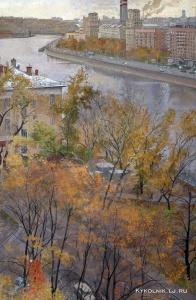 1990-е Лившиц Татьяна Исааковна (1925-2010) «Москва-река. Осень»