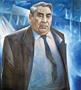 Шандро И. А., Портрет начальника Братскгэсстроя И. И. Наймушина