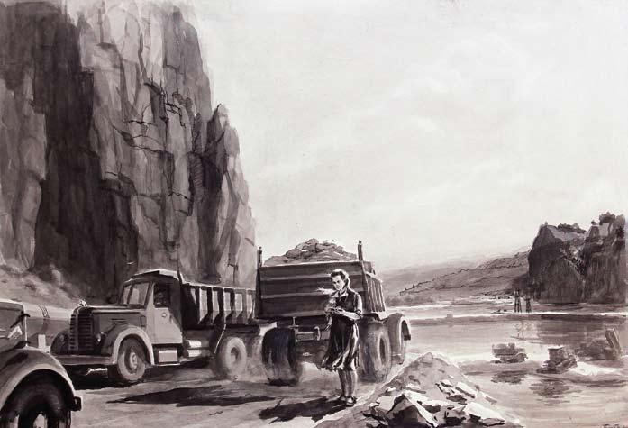 Бобылев Г. Н., Отсыпка перемычки, 1960 год