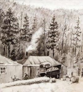 Бекасов В. Ф., Началo строительства Братской ГЭС, 1955 год