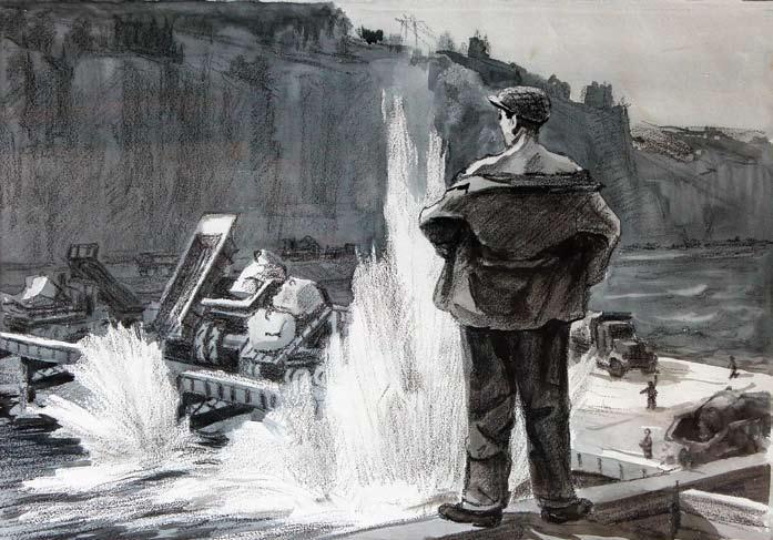 Бобылев Г. Н., Перекрытие Ангары, 1959 год