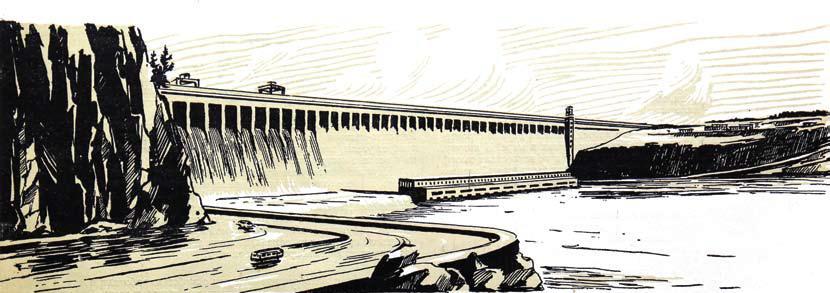 Из альбома литографий Где шумит Падун, 1960 год