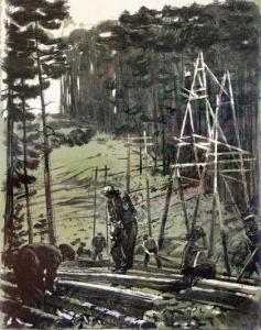 Ройтер М. Г., Наступление на тайгу, 1957 год