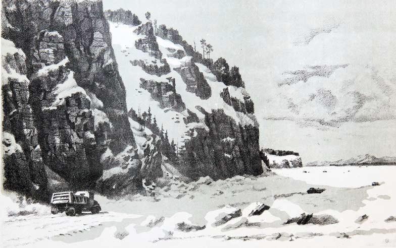 Семенов Н., Ледяная трасса Падун-Осиновка, 1957 год