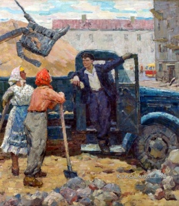 Непомнящий Борис Абрамович (1921-2009) «На окраине Минска» 1969