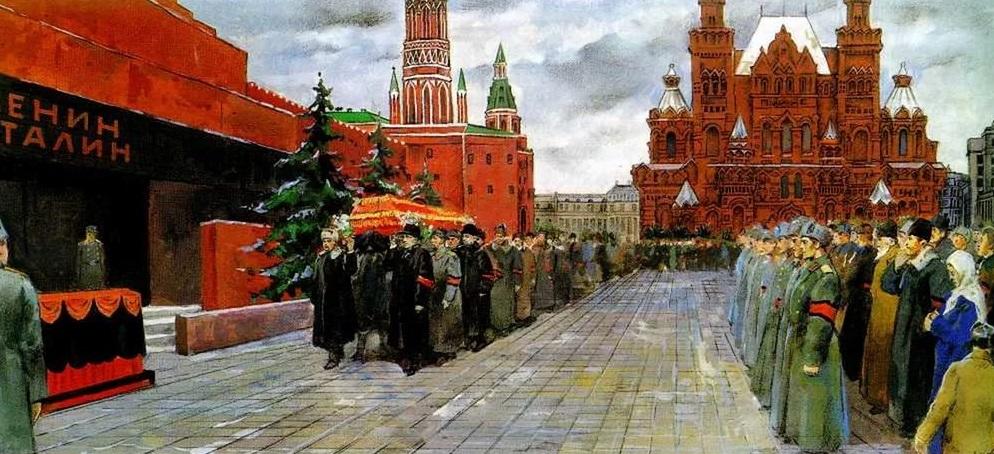 Похороны Сталина. Неизв. худ.