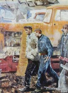 Белявский Альберт Хаимович (Россия, 1934) «Трактористы» 1975