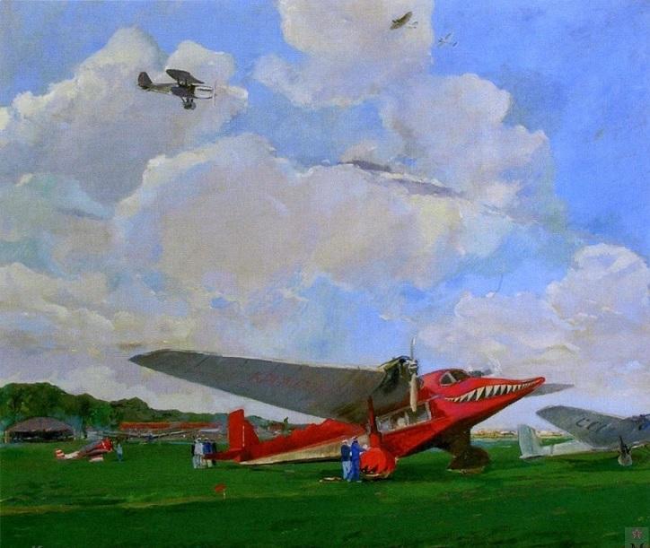 Люшин Владимир Иванович (1898-1970) «Крылатый агитатор» 1937