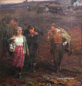 Дашкевич Александр Диомидович (1912-1984) «С ночного сева» 1964