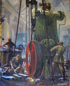Еременко Павел Яковлевич (Россия, 1916) «Ремонт пресса» 1977