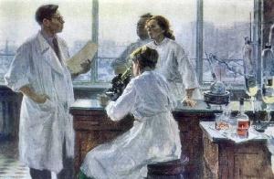 Гусев Юрий Викторович (Россия, 1928) «Биохимики» 1959