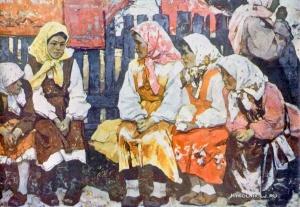 Кабачек Леонид Васильевич (Россия, 1924-2002) «В праздник»
