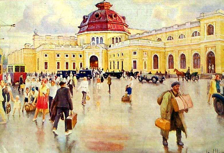 Шульга Иван Николаевич (1889-1956) «Харьков. Вокзал Южной железной дороги» 1933
