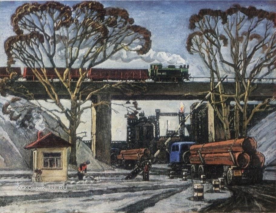 Миронов Виталий Сергеевич (Россия, 1942) «Индустриальный пейзаж» 1981