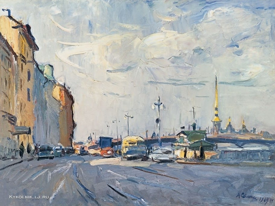 Семенов Александр Михайлович (Россия, 1922-1984) «Ленинградское утро»