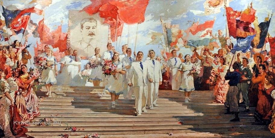 Соколов Алексей Константинович (1922-2001) «Знаменосцы мира» 1951