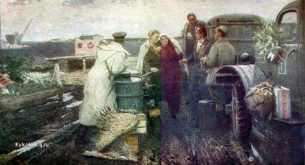 Тимофеев Анатолий Павлович (Россия, 1928) «Весна на Ангаре»