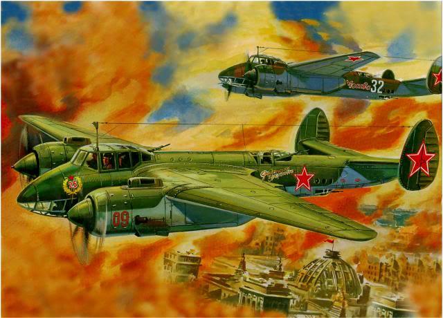 Руденко Валерий. Бомбардировщик ТУ-25 над Рейхстагом.