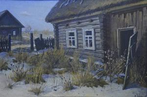«В Чернобыльской зоне». Художник: Виктор Шматов.
