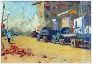 Туманов Борис Иванович (Россия, 1930) «Стройка микрорайона» 1960
