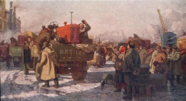 Минский тракторный - полям. Автор: Моносзон М.И. 1958