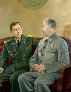 И.В. Сталин с сыном Василием. Аладжалов, Семён Иванович