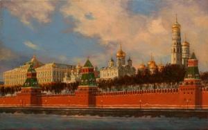 Работы художника Сергея Глушкова.. Золотые купола
