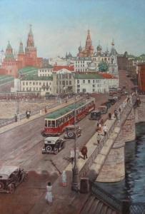 Работы художника Сергея Глушкова. Москворецкий мост