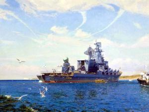 Ракетный крейсер «Москва» (Олег Ездаков, 2008 год)