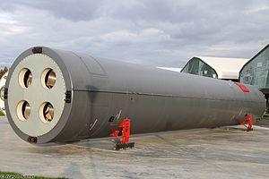 Межконтинентальная баллистическая ракета шахтного базирования 15А20 / УР-100К / РС-10 в транспортно-пусковом контейнере 15Я42